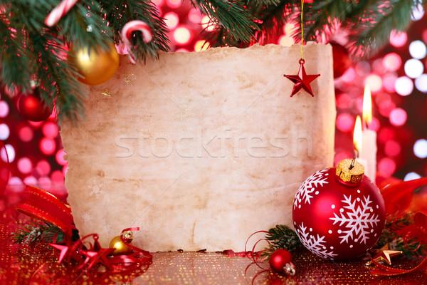 休日 キャンドル クリスマス 装飾 ボール ストックフォト © Vitalina_Rybakova