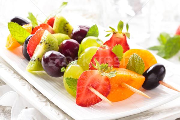Vruchten vers zomer mint bladeren voorjaar Stockfoto © Vitalina_Rybakova