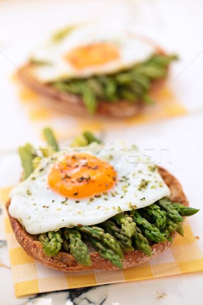 Mediterranean snack with asparagus. Stock photo © Vitalina_Rybakova