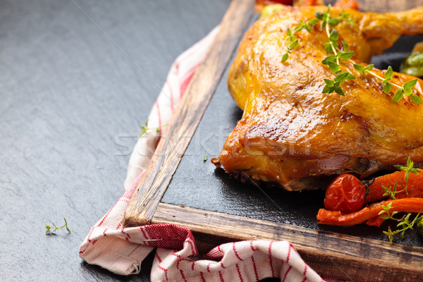 鶏 脚 クローズアップ ショット 野菜 ストックフォト © Vitalina_Rybakova