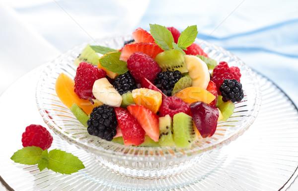 Vers bessen kom gemengd vruchten mint Stockfoto © Vitalina_Rybakova