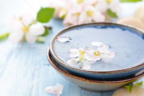 Duftenden Wasser Blumen Öl Frühlingsblumen spa Stock foto © Vitalina_Rybakova
