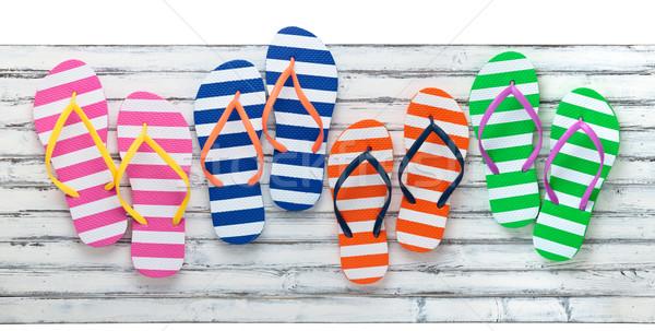 Colorful  Flip Flops. Stock photo © Vitalina_Rybakova