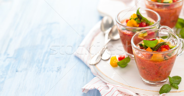 Gazpacho soup in cups. Stock photo © Vitalina_Rybakova