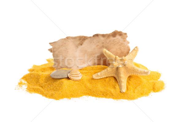 Sand and paper. Stock photo © Vitalina_Rybakova