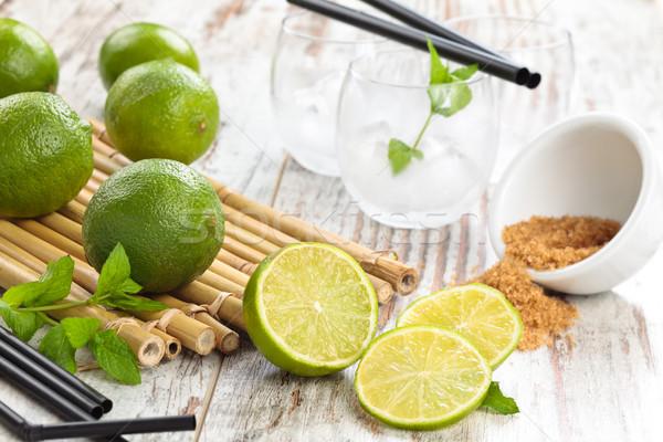 Limes and mint. Stock photo © Vitalina_Rybakova