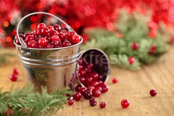 Cranberries in buckets . Stock photo © Vitalina_Rybakova