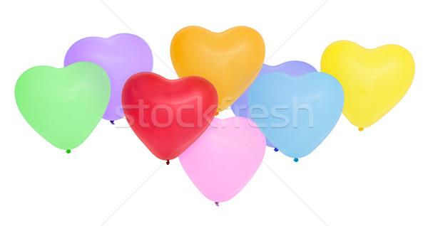 Kleurrijk hart ballonnen bruiloft liefde Stockfoto © Vitalina_Rybakova