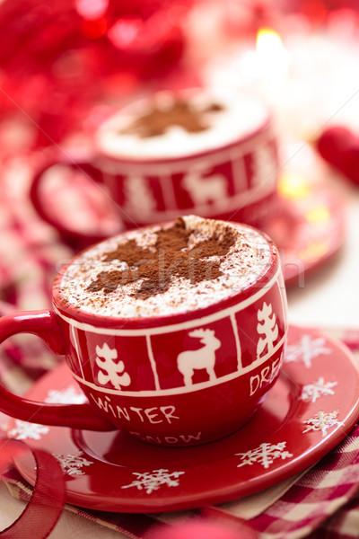 Warme chocolademelk christmas dag ingericht vakantie Stockfoto © Vitalina_Rybakova