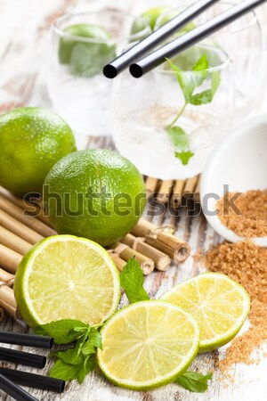 Mojito cocktail ingredients. Stock photo © Vitalina_Rybakova