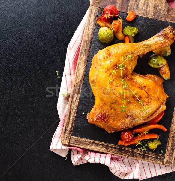 Tavuk bacak atış sebze Stok fotoğraf © Vitalina_Rybakova