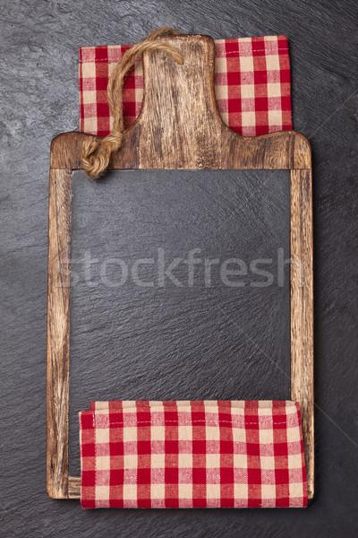 まな板 テーブルクロス 暗い テクスチャ 食品 背景 ストックフォト © Vitalina_Rybakova