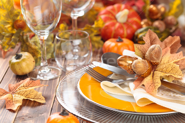 Thanksgiving dinner decoration. Stock photo © Vitalina_Rybakova