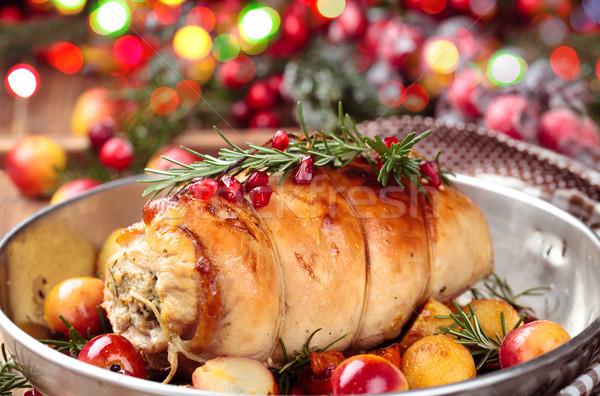 Törökország mell ünnepek töltött sült zöldségek Stock fotó © Vitalina_Rybakova