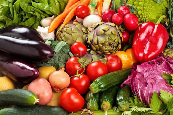 新鮮な野菜 背景 混合した 新鮮な オーガニック 野菜 ストックフォト © Vitalina_Rybakova