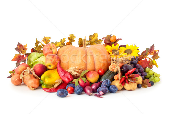 果物 野菜 アレンジメント 孤立した 白 ストックフォト © Vitalina_Rybakova