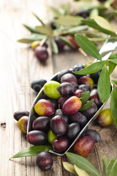Fresh olives in scoop. Stock photo © Vitalina_Rybakova