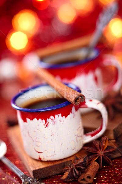 Hot chocolate with spices. Stock photo © Vitalina_Rybakova