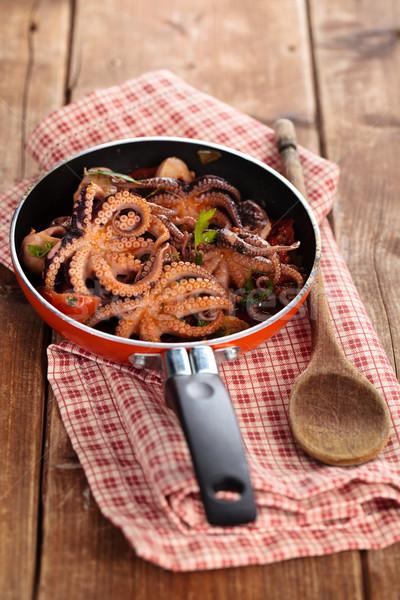 Preparado bebê comida italiana tomates alho salsa Foto stock © Vitalina_Rybakova