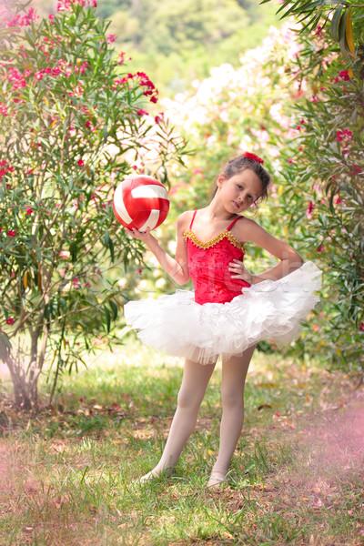 Klein ballerina park meisje ballet vergadering Stockfoto © Vitalina_Rybakova