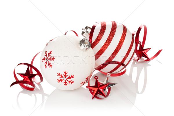 クリスマス 飾り 描いた 孤立した ストックフォト © Vitalina_Rybakova
