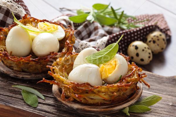 卵 セージ ローズマリー ストックフォト © Vitalina_Rybakova