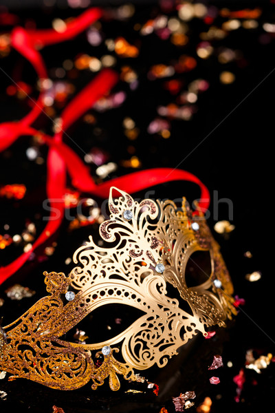 Golden carnival mask. Stock photo © Vitalina_Rybakova