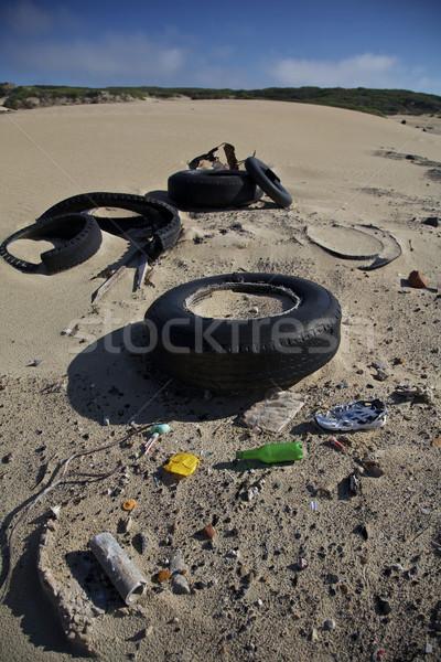 廃棄物 汚染 ビーチ 環境の 問題 ストックフォト © Vividrange