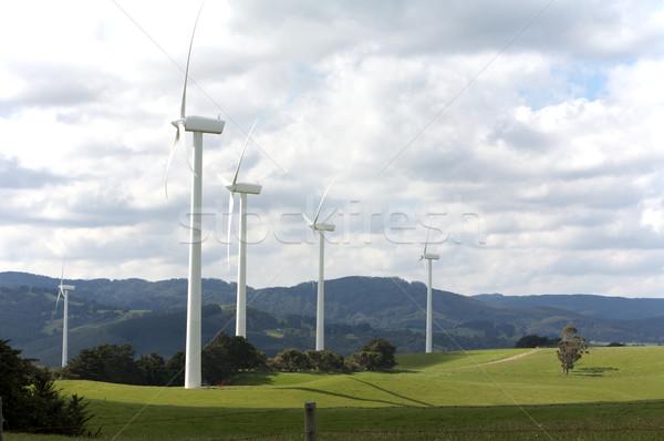 Elektrycznej moc niebo charakter przemysłowych Zdjęcia stock © Vividrange