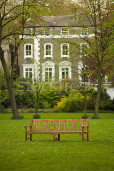 英語 公園 木製 ベンチ カラー 家 ストックフォト © Vividrange