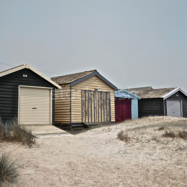 Beach Huts Stock photo © Vividrange