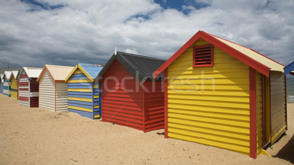 Colorful Beach Huts in Australia Stock photo © Vividrange