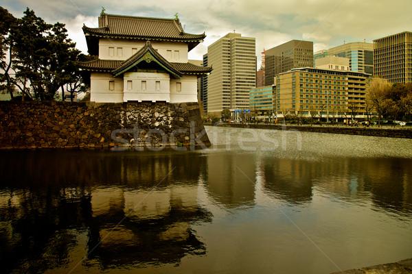 Tokió palota város háború épületek kastély Stock fotó © Vividrange