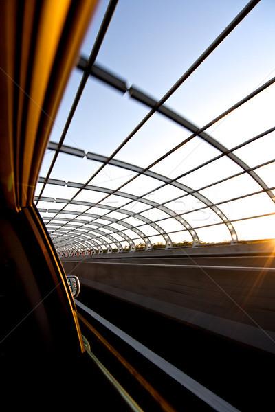 道路 高速道路 高速 車 交通 空 ストックフォト © Vividrange