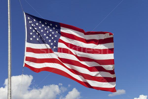 ストックフォト: アメリカンフラグ · 米国 · アメリカ · 米国 · 空 · にログイン