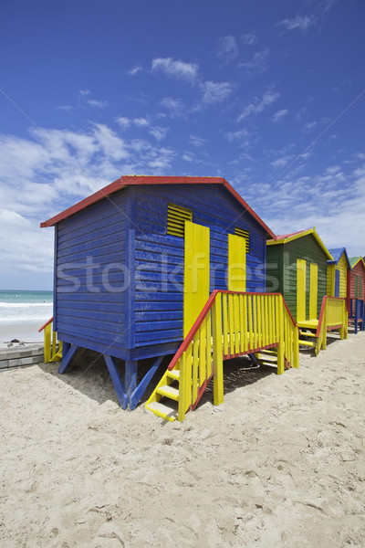 Beach huts, Cape Town, South Africa Stock photo © Vividrange