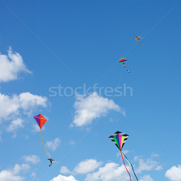 飛行 カイト 空 楽しい 興奮 子供 ストックフォト © Vividrange