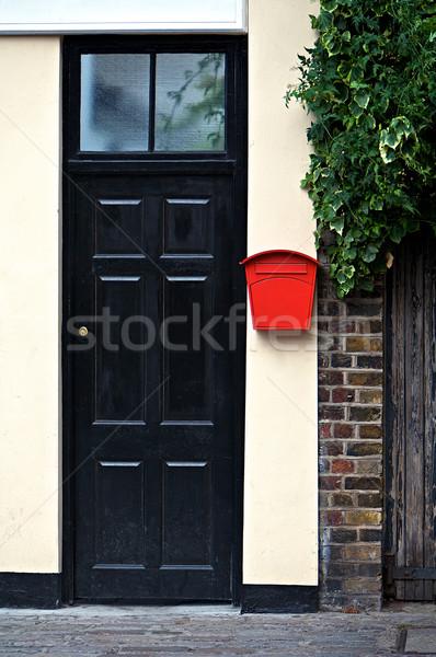 フロントドア ホーム 黒 ドア フロント 赤 ストックフォト © Vividrange