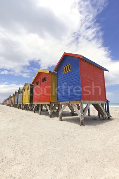 ストックフォト: ビーチ · 描いた · ケープタウン · 南アフリカ · 海
