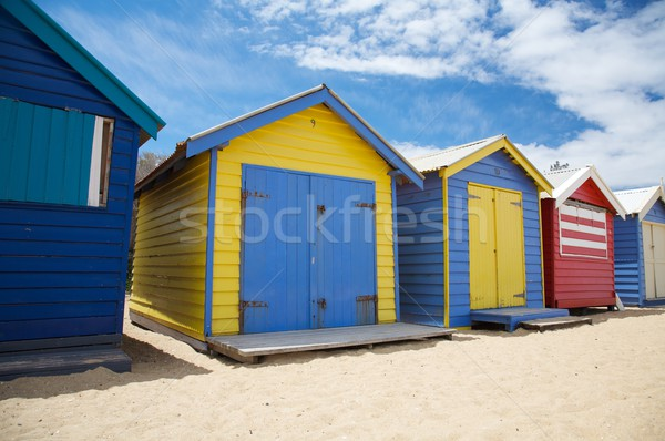 Colorful beach huts, Australia Stock photo © Vividrange