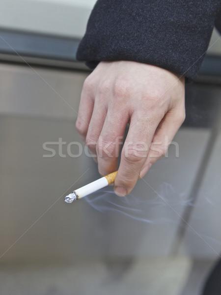 喫煙 男 公共 ニューヨーク市 米国 オフィス ストックフォト © Vividrange