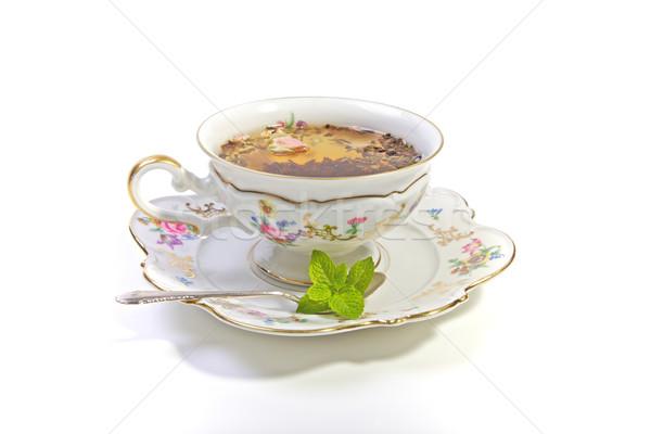 茶 カップ 高い ドリンク 時間 ストックフォト © Vividrange