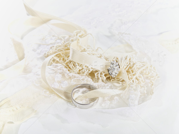 結婚指輪 ファブリック 愛 デザイン カップル ストックフォト © Vividrange