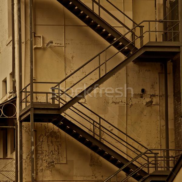 建物 セピア 金属 火災 脱出 ストックフォト © Vividrange