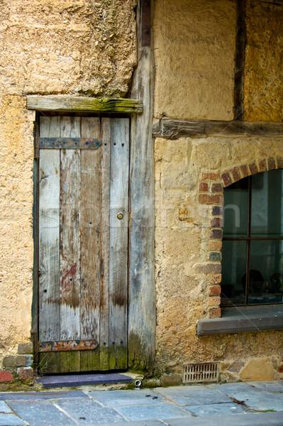 木製 ドア 風化した 建物 建設 壁 ストックフォト © Vividrange