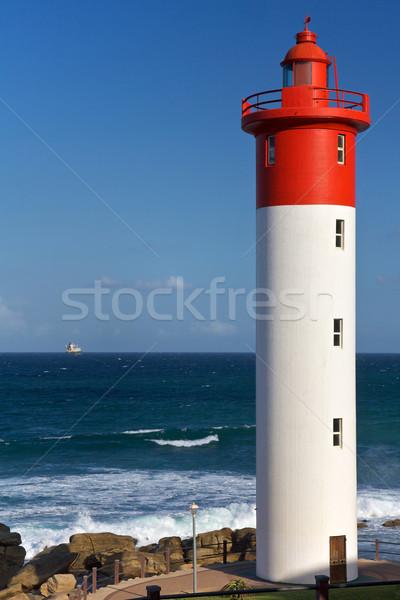 ストックフォト: 灯台 · 南アフリカ · 空 · 自然 · 海 · 青