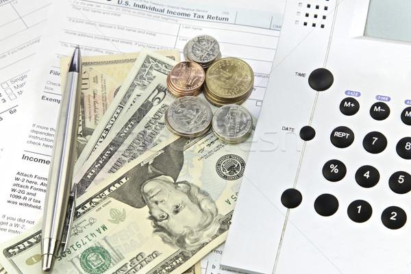 税 電卓 1040 フォーム ストックフォト © Vividrange