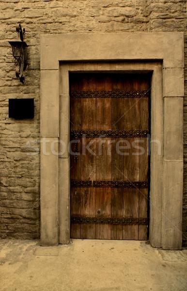 ブラウン ドア 木製 家 建物 木材 ストックフォト © Vividrange
