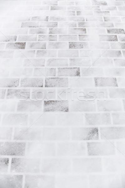 雪 光 子供 壁 レンガ アーキテクチャ ストックフォト © Vividrange