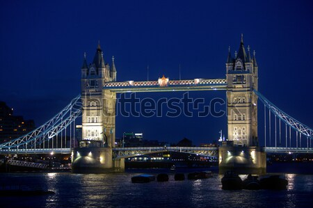 Сток-фото: Лондон · Тауэрский · мост · Англии · ночь · известный · ориентир